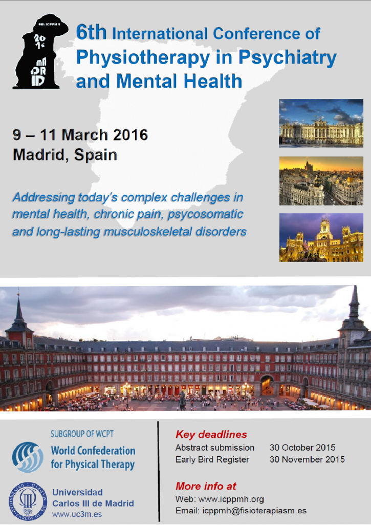 congreso THE INTERNATIONAL CONFERENCE OF PHYSICAL THERAPY IN PSYCHIATRY AND MENTAL HEALTH